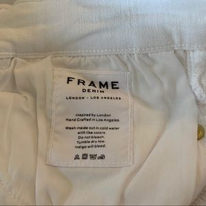 Frame Denim Jeans - Frame White Le High Straight Jeans New With Tags